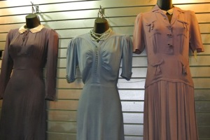 Classic vintage dresses from the 40s in pristine condition