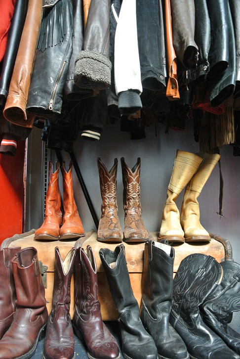 Men's leather jackets and boots